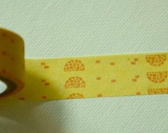 1 Roll Japanese Washi Masking Paper Tape - Half Circle Motif