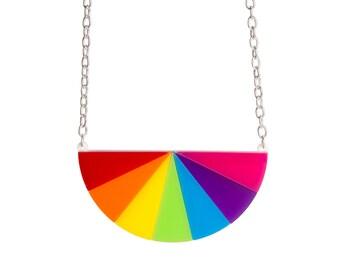 Colour Wheel necklace - laser cut acrylic