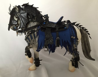 Model Horse Fantasy Dragon Armor Costume & Breyer SR Friesian