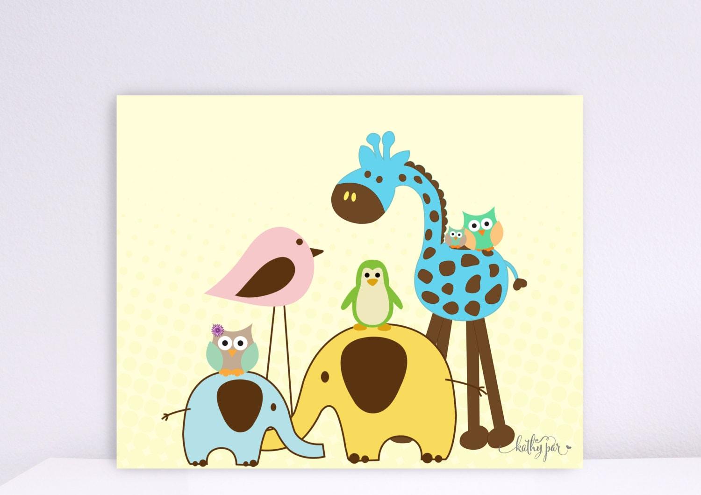 Baby Zoo Animals Nursery | Wallpapers Gallery