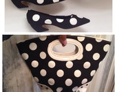 Look Who's Coming to Dinner Black/White Polka Dot Tote Bag