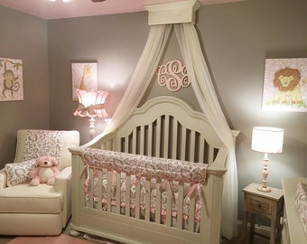 Bed Crown Canopy, Crib Crown, Nursery Design, Wall Decor, Shabby Chic