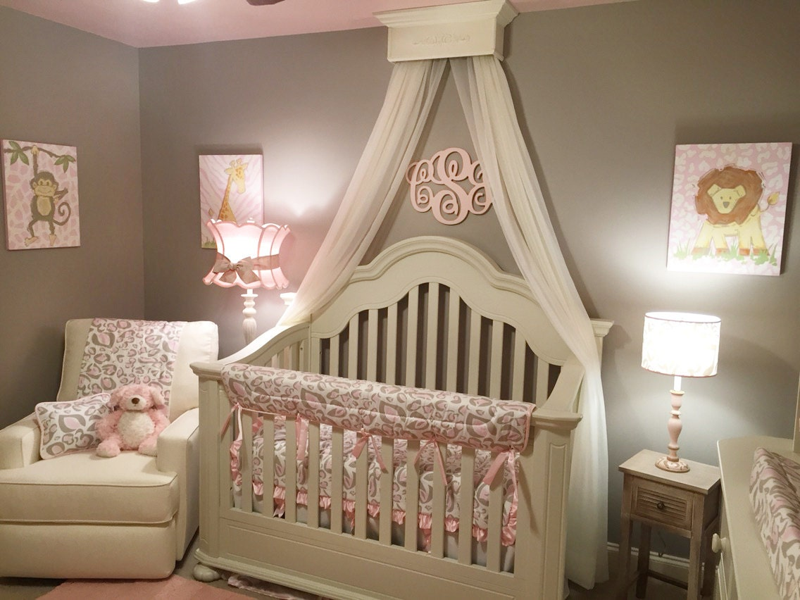 bed crown canopy crib crown nursery design wall decor
