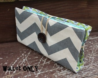 Gray Chevron WALLET ONLY for Dave Ramsey Budget