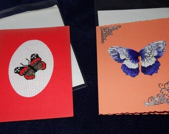 pair of butterfly cards