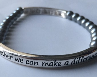 Together We Can Make a Difference Breast Cancer Bracelet