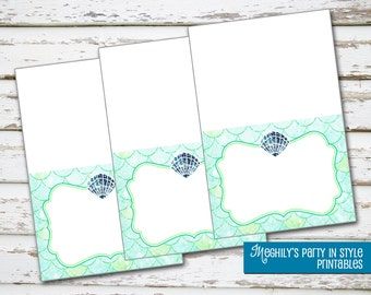 INSTANT DOWNLOAD - Mermaid Tent Cards