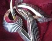 Vintage 1960s Abstract Fleur de Lis Silver Pin by Marcel Boucher