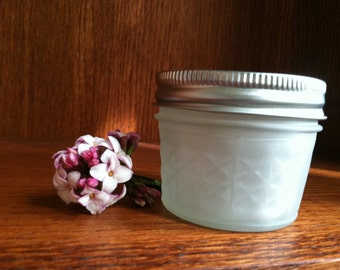 Glass Jar, Sandblasted Glass Jar, Stash Jar, Spice Jar, Frosted Glass Jar, Baby Food Jar