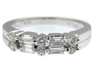 Beautiful 18K White Gold Diamond Band. 110-00001
