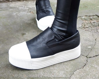 "NEW Collection SS/15 Sneakers All Genuine Leather  / Casual  Extravagant ""Must Have"" All seasons sneakers by Aakasha A15204"