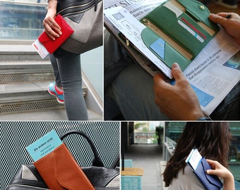 Tripping Wallet Button Flap Purse Passport Cover Boarding Pass holder