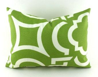 Outdoor Lumbar Pillow Decorative Pillow Cover Green Pillow Richloom Outdoor Carmody Kiwi