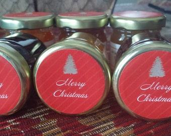 Christmas In July Sampler Jams / 6 Jam Gift  Set / CIJ/ READY to SHIP/Jam- Marmalade / 6 Mini Samples/ In stock/ 1.5 oz Each