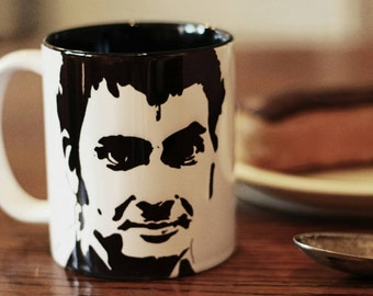 David Tennant, Broadchurch, Richard 2nd, Hand Printed cup, Hand Painted cup