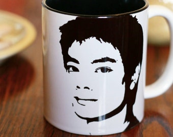 Osric Chau, Supernatural, 2012, The 100, Kevin Tran, Hand Painted Cup