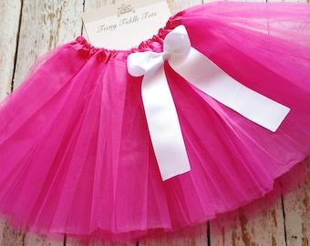 Hot Pink TuTu, Baby TuTu with matching bow, Toddler Tu Tu, Ballerina Tu Tu, Baby Tu Tus, Tutus, Baby Tutus