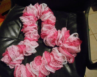 Shades of Pink Ruffle Scarf w a little sparkle