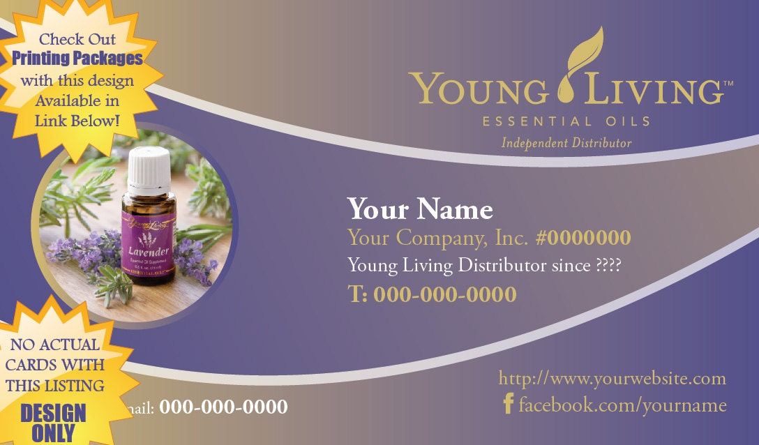 Premade Young Living Business Card Design Cool by