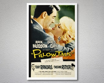 Pillow Talk Movie Poster  - Doris Day, Rock Hudson - Poster Paper, Sticker or Canvas Print