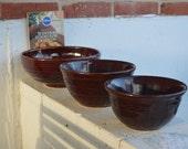 Stoneware MarCrest Ovenproof Bowls, USA (Set of 3)