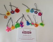 Zip charms - phone charms - bag charms - sets of 4 - great party bag fille