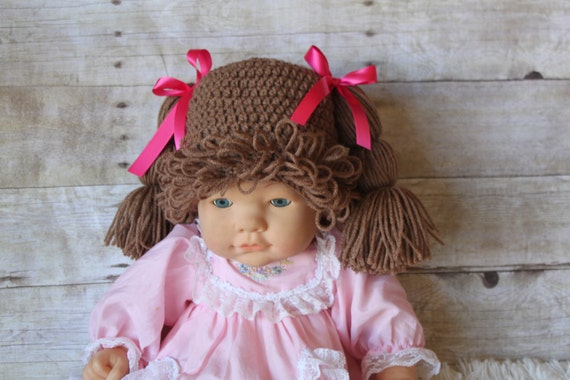 Crochet Pattern For Cabbage Patch Baby Hat : Crochet Cabbage Patch hat