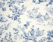 One Pair of Draperies Made of Covington Musee Toile Two Colors Available Many Sizes Available. French Toile Print Housewares. Curtains.