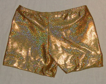 Gymnastics or Cheer Shorts - Gold Twinkle