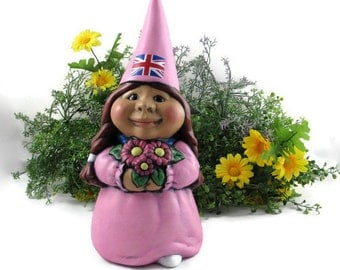 Female garden gnomes Etsy