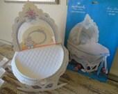 Vintage Baby Shower--Hallmark Centerpiece with Nut Cup Cradles