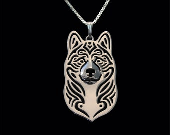 Akita (American) - sterling silver pendant and necklace.