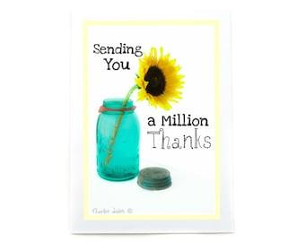 Thank You Box Set: Sunflower Mason Jar
