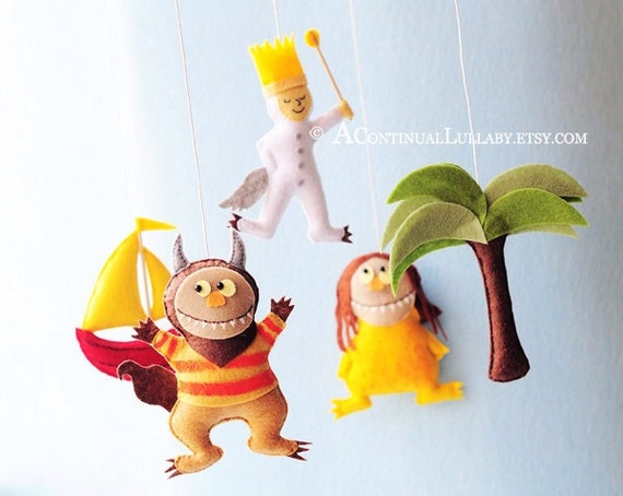 Baby Mobile Nursery Decor Monster Mobile Cute Monsters Baby Boy Nursery Decor, Baby Shower Gift Baby Boy Gift. Where the Wild Things Are