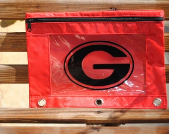 Red UGA Pencil Bag Great for Back to School