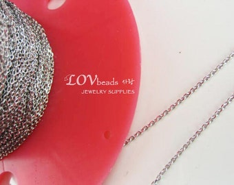 High Quality Plating, Silver Chain, Rhodium Plated Diamond cut Chain, Diamond cut chain