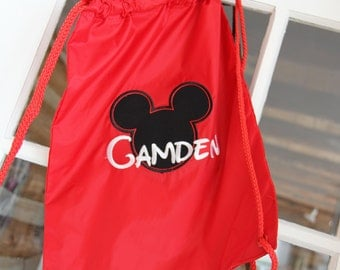 Personalized Drawstring Disney Bags