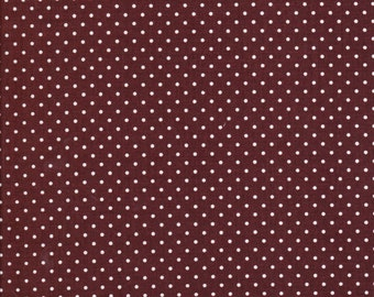 White Swiss Dots On Brown C670 90