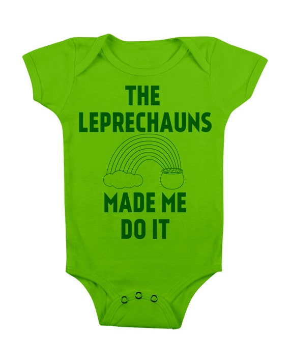 Funny Baby esie St Patricks Day Baby Outfit Clothes by