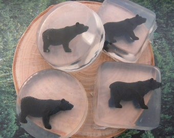 Black Bear Soap / Bear party favors