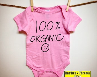 Baby Clothes. 100% ORGANIC. 8 colors. baby romper bodysuit creeper one piece. baby announcement idea. baby shower gift. Natural. onezee