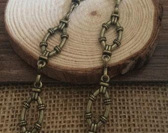90cm antique bronze Chain 10x30mm wide