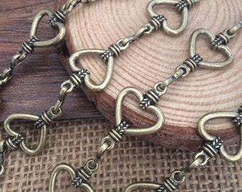 102cm  antique bronze Chain 24x14mm wide