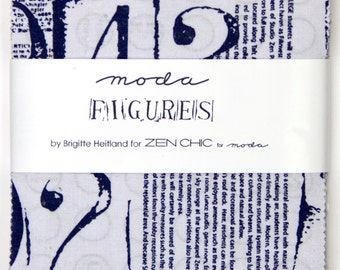 Figures Charm Pack - Zen Chic for Moda - (42) 5'' Squares