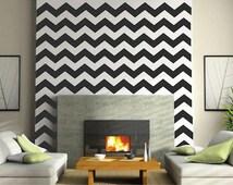 Chevron Wall Decals - Chevron Bedroom Wall Decal - DIY Chevron Wall Stickers - Bedroom Chevron Decals, Chevron Wall Art, g23