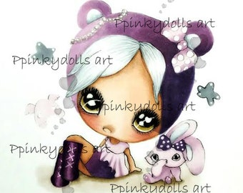 INSTANT DOWNLOAD Digital Digi Stamps..by Chrishanthi's art,Kawaii Betty''