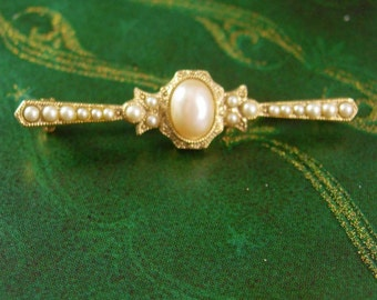 Pearl Edwardian Style Brooch Vintage Women's Classy Blouse Jewelry Mother of the bride