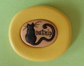 Catnip Sign Mold - Flexible Silicone Mold - Cat - Resin - Polymer clay - FOOD Safe - Fondant - Chocolate - Candy - Sugar  C190M