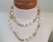 RESERVED FOR KRISTY Vintage Art Deco Gripoix Pearl Necklace
