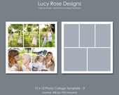 12 x 12 Photo Collage Template - 3